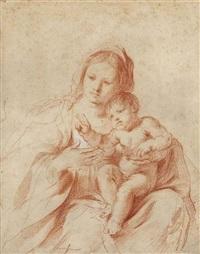 la vierge et l'enfant by guercino