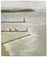 two lighthouses by richard eurich