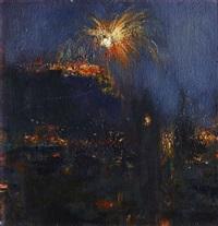 edinburgh fireworks by geoffrey john roper