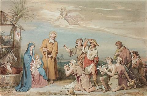 the adoration of the shepherds by louis charles auguste couder