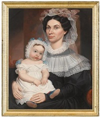 double portrait of a mother and child by robert street