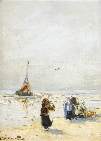 fischer am strand by gerhard arij ludwig morgenstjerne munthe