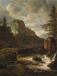 landschaft mit wasserfall by anonymous-dutch (17)