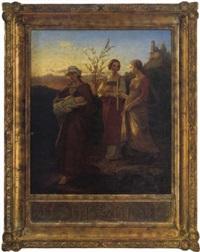 die heilige elisabeth von thüringen (?) by f. keyser