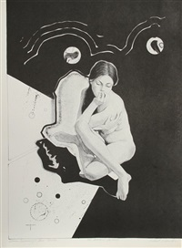 woman dreaming of two circles by robert eagerton