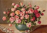 rosenstrauß in vase by maria kistler