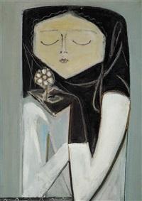 çiçek koklayan kız by avni arbas