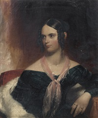 portrait de thomas wilson, husband of mary cruz wilson, portrait presume de madame wilson by american school (19)
