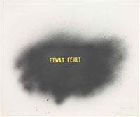 etwas fehlt (something missing) by thomas schütte