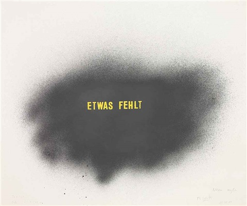 etwas fehlt something missing by thomas schütte