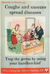 coughs and sneezes spread diseases (+ another; 2 works) by henry mayo bateman