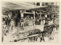 the old market, florence by otto henry bacher