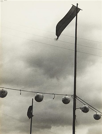 lanterns and oriflammes bastille day paris by ilse bing