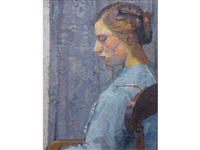 portrait of a lady by harold gilman
