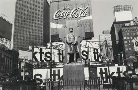 nyc father duffy times square by lee friedlander
