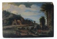 paesaggio con architetture e personaggi by flemish school (18)