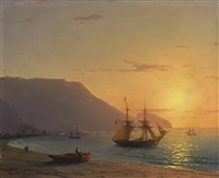 sunset, crimea by ivan konstantinovich aivazovsky