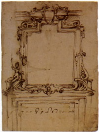 design for a stucco frame above a doorway by filippo juvara