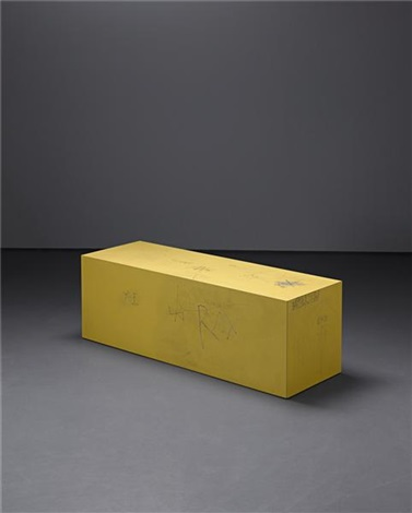 inscribed bench by sterling ruby