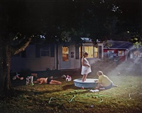 untitled (pregnant woman/pool), 1999, from twilight series by gregory crewdson