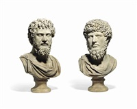 busts of lucius verus and septimius severus (pair) by anonymous-italian