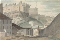 edinburgh castle from the south by francis towne