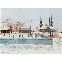 playing hockey by terry tomalty