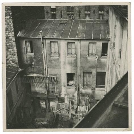 arrière-cour (from repérages pour le film hôtel du nord) by alexander trauner