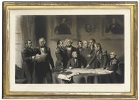 the arctic council discussing the plan of the search for sir john franklin (after stephen pearce) by james scott