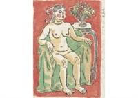 sitting nude by ryuzaburo umehara