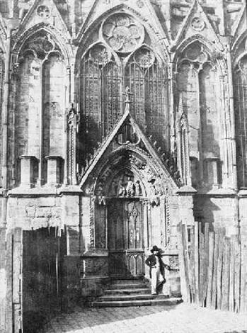 La Porte Rouge Notre Dame Paris By Charles Marville On Artnet