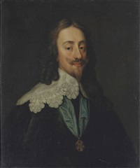 portrait of king charles i (1600-1649), half-length, with the ribbon and star of the order of the garter by sir anthony van dyck