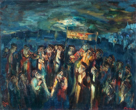 simchat torah in safed by isaac frenel