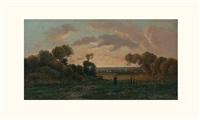 paysanne au coucher de soleil by r. t. stuart