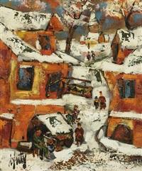 village sous la neige by henri d' anty