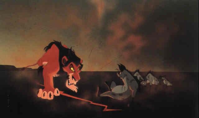 The Lion King Scar And Hyenas By Walt Disney Studios On Artnet