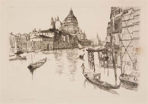 the grand canal venice by otto henry bacher