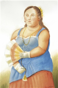 woman by fernando botero