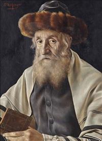 a rabbi reading by otto eichinger