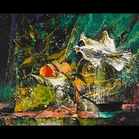 still life with pigeons by irina pogorelova