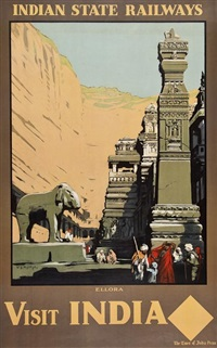visit india, ellora by william spencer bagdatopolous