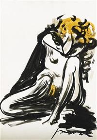 nudo femminile by lucio fontana