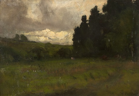 landscape with stormy sky by william keith
