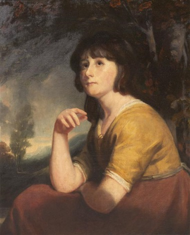 portrait of a girl said to be lady bathurst by john opie