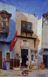 boutiques dans une rue turque by abel boulineau