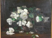 white niphetos roses by williams anderson
