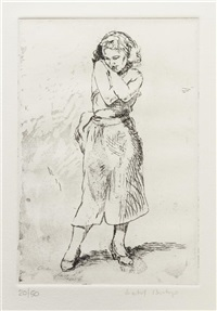 eight etchings: (suite of eight etchings with box and text) by isabel bishop