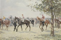 preparing for the start, ascot by charles walter simpson