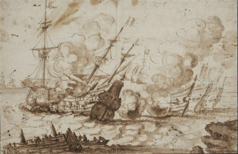 combat naval by ludolf backhuysen the elder