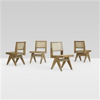 set of four chairs from chandigarh (set of 4) by pierre jeanneret